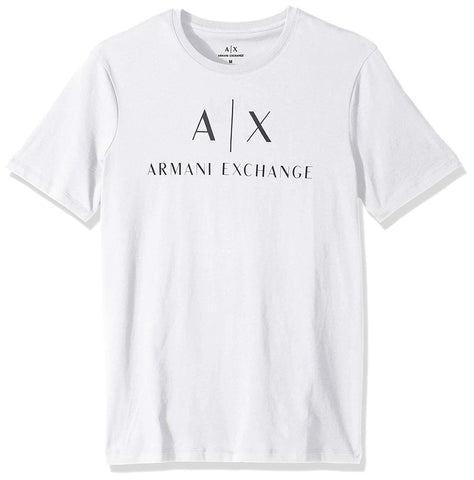 A|X Armani Exchange Men's Crew Neck Logo Tee White - T-Shirt - SouqBrands.com