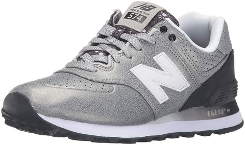 New Balance Women's WL574 CORE PLUS-W Lifestyle Sneaker Silver/Black - Shoes - SouqBrands.com