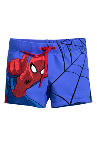 Patterned swim shorts spiderman