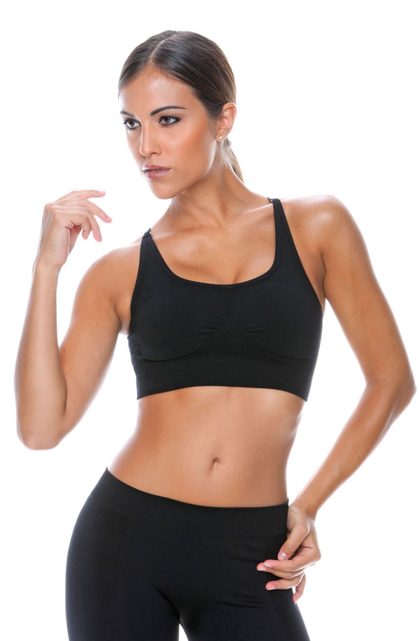 Control Body Sport 110705 Nero Sports Bra by Control Body only 29.99 at girls.co.uk
