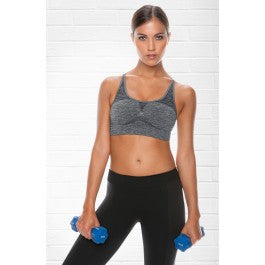 Control Body Control Body elange/Grey Sports Bra by Control Body only 29.99 at girls.co.uk
