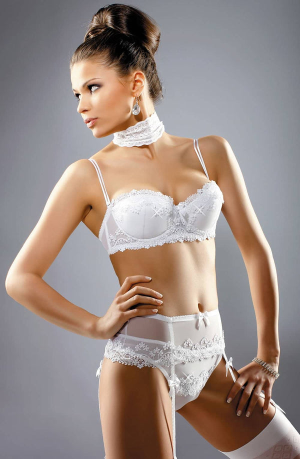Gracya 133 Gracya adonna Bra White (Crystals) in Color with size Size only 67.99 at girls.co.uk