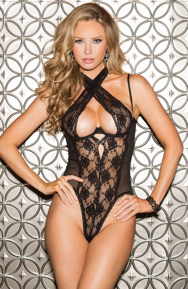 Open Bum Design Teddy With Mesh & Lace Design by Shirley of Hollywood only 65.99 at girls.co.uk