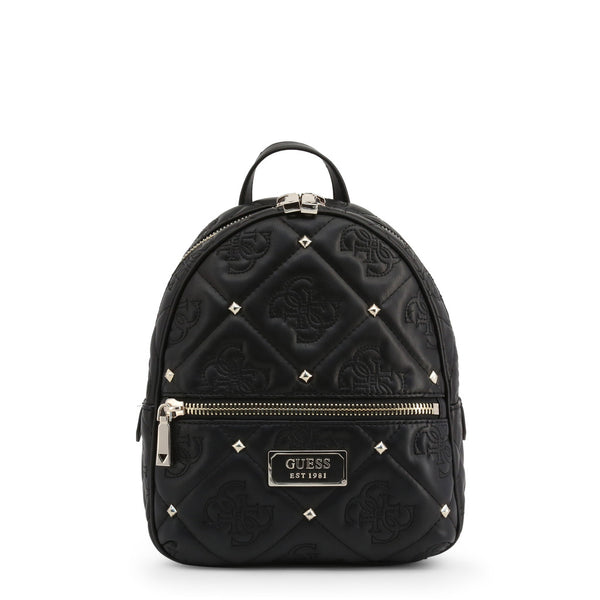 Printed Leather Backpack With Stud Details by Guess only 99.99 at girls.co.uk