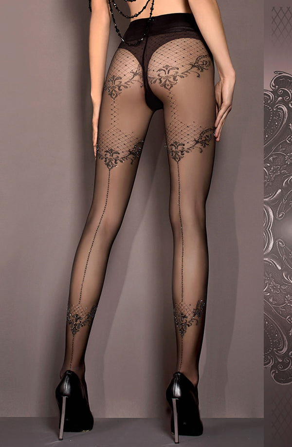 Ballerina BALLERINA 413 Tights Nero (Black) in Color with size Size only 23.99 at girls.co.uk