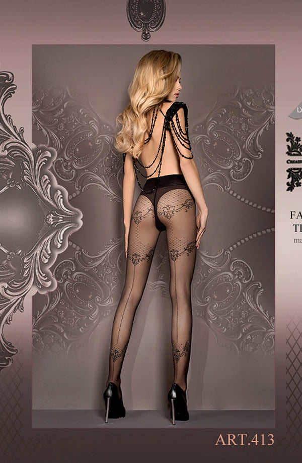 Stunning Sparkly Black Fashion Tights