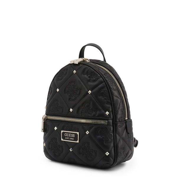 Printed Leather Backpack With Stud Details by Guess only  at girls.co.uk