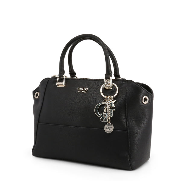 Beautiful Leather Handbag With Keychain Logo Detail by Guess only  at girls.co.uk