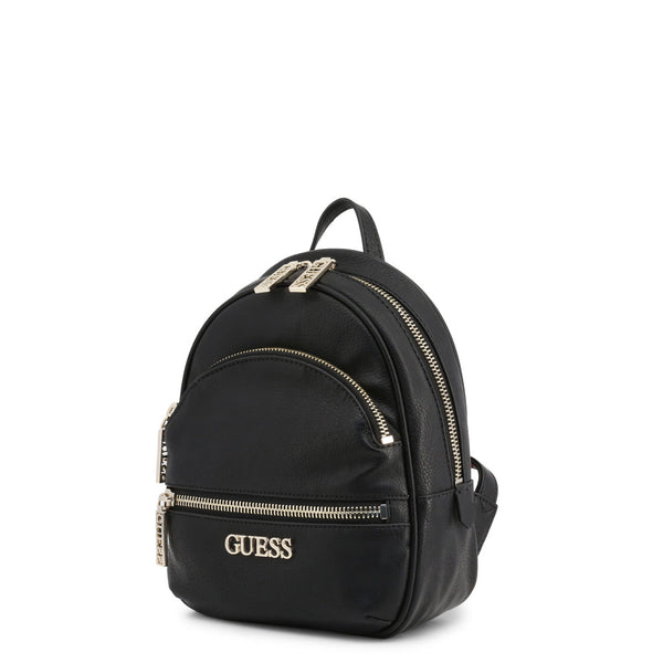 Leather Backpack With Guess Logo & Branded Zips by Guess only  at girls.co.uk