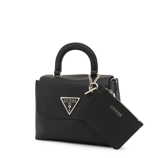 Leather Handbag With Triangular Logo Design & Matching Purse by Guess only  at girls.co.uk