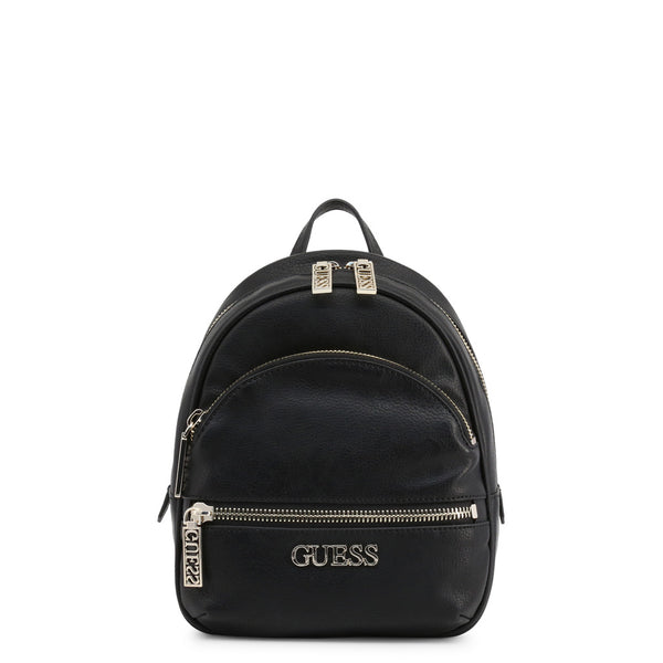 Leather Backpack With Guess Logo & Branded Zips by Guess only 89.99 at girls.co.uk