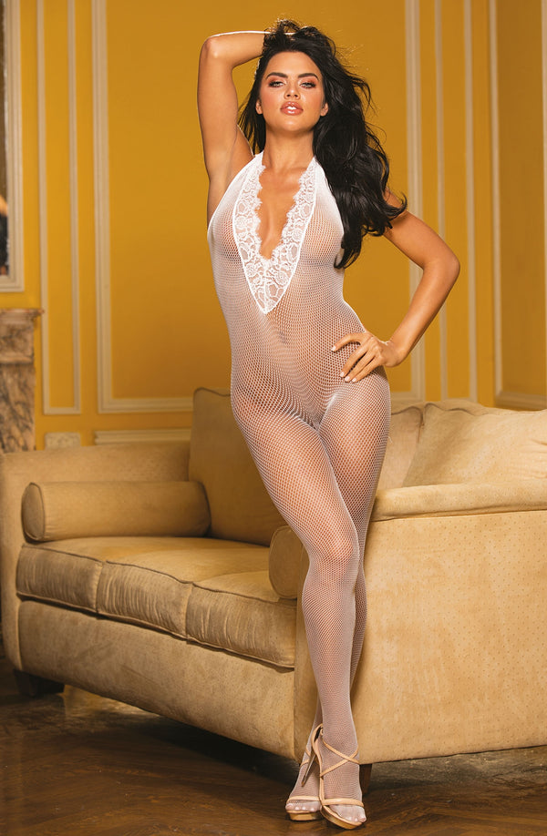 Fishnet & Eyelash Lace Bodystocking by Shirley of Hollywood only 35.99 at girls.co.uk