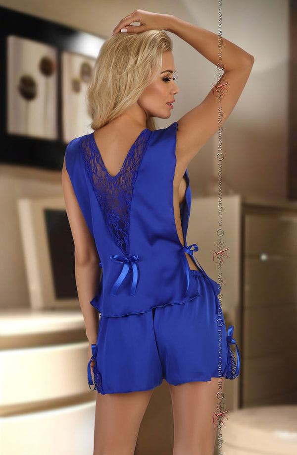 2 Piece Royal Blue Set With Matching Lace & Bows by Beauty Night only 82.99 at girls.co.uk