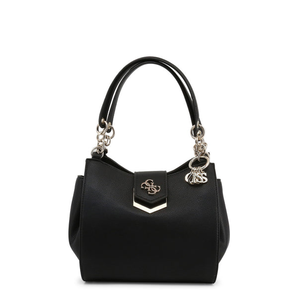 Leather Handbag With Link Design Straps, Keychain & Logo On Bag Closure by Guess only 99.99 at girls.co.uk
