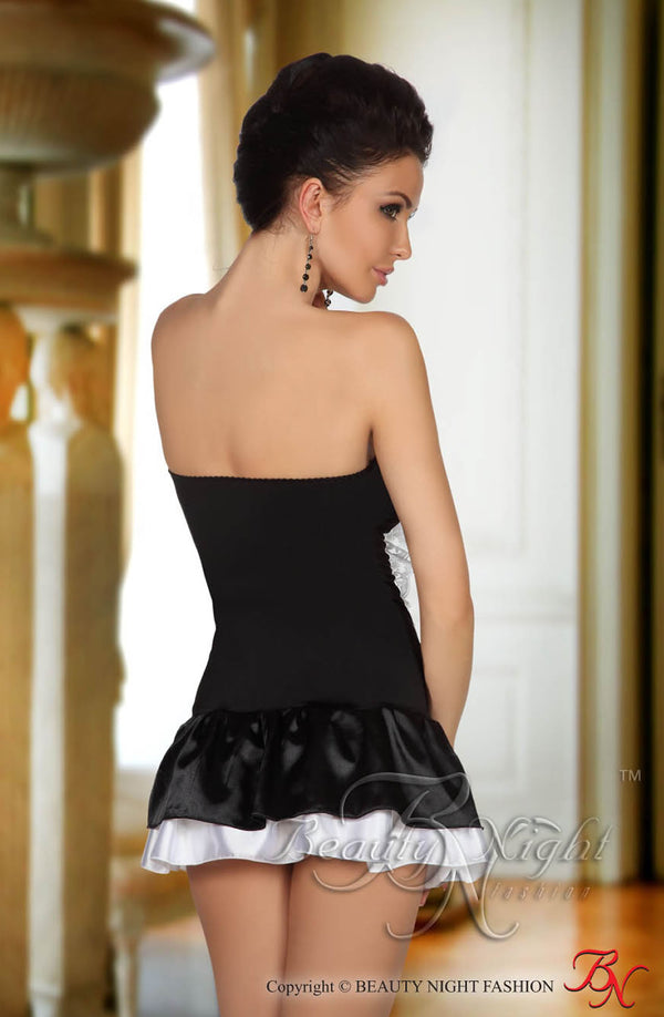 French Maid Ruffled Mini Dress