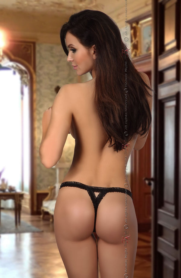 Sexy Black Lace Thong