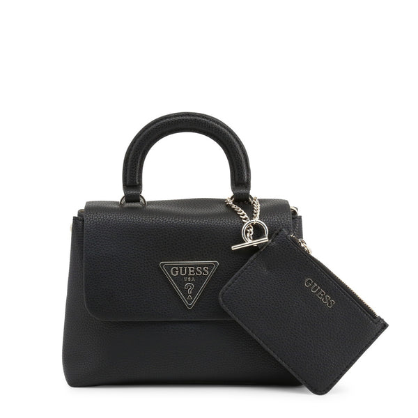 Leather Handbag With Triangular Logo Design & Matching Purse by Guess only 99.99 at girls.co.uk