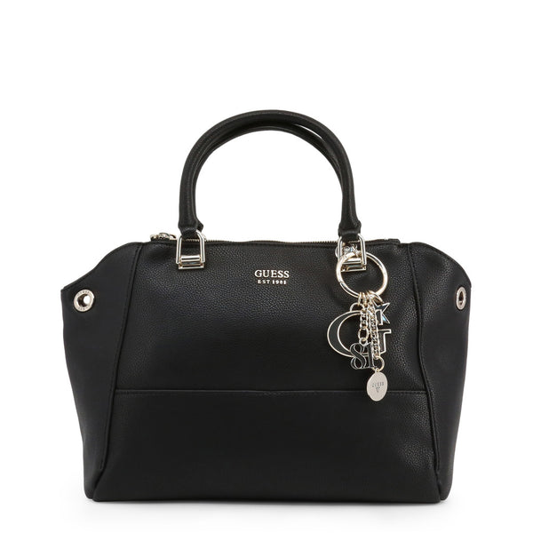 Beautiful Leather Handbag With Keychain Logo Detail by Guess only 109.99 at girls.co.uk