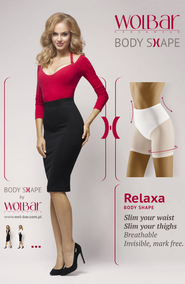 Relaxa Lower Stomach & Thigh Shapewear Black by Wolbar only 25.99 at girls.co.uk