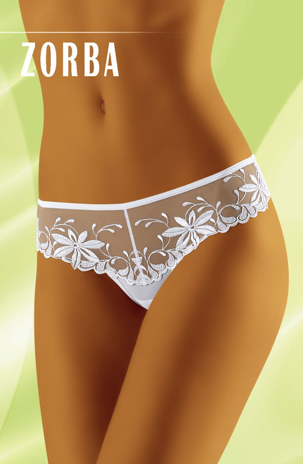 Zorba Elegant Floral Design Thong by Wolbar only 19.99 at girls.co.uk