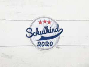Klett-Applikation Schulkind 2020, reflektierend/dunkelblau/rot-orange