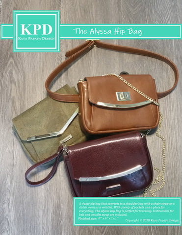 The Alyssa Hip Bag Digital Pattern