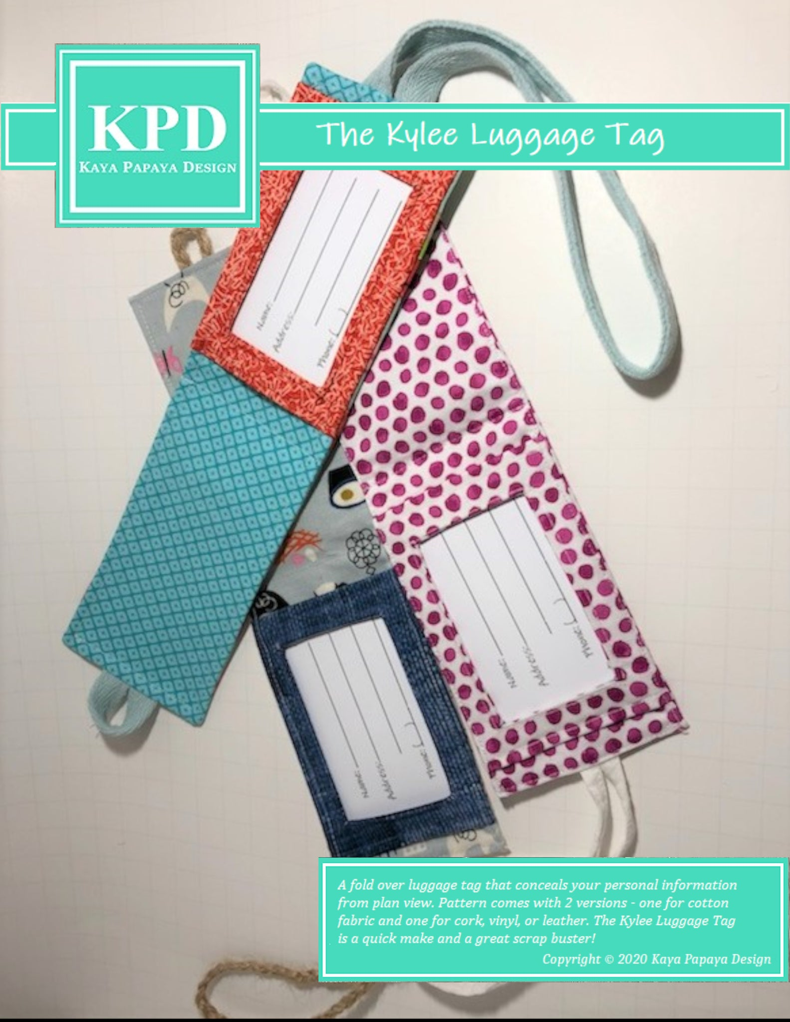 The Kylee Luggage Tag Digital Pattern