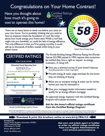 Energy Rating Index (ERI) ANSI/RESNET/ICC 301-2014*