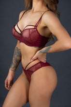 Load image into Gallery viewer, Burgundy Double Strap Panty