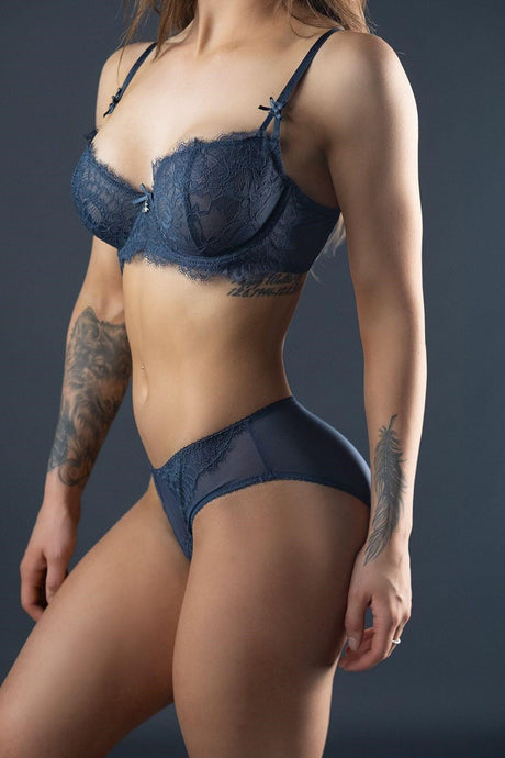 Freedom Blue Lace Bra
