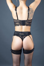 Load image into Gallery viewer, Moon Lace Black Suspender