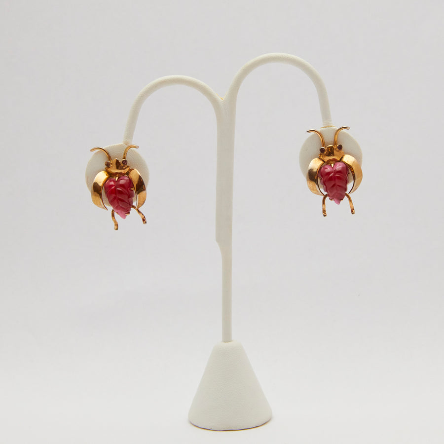 Castlecliff Sterling and Vermeil Insect Earrings