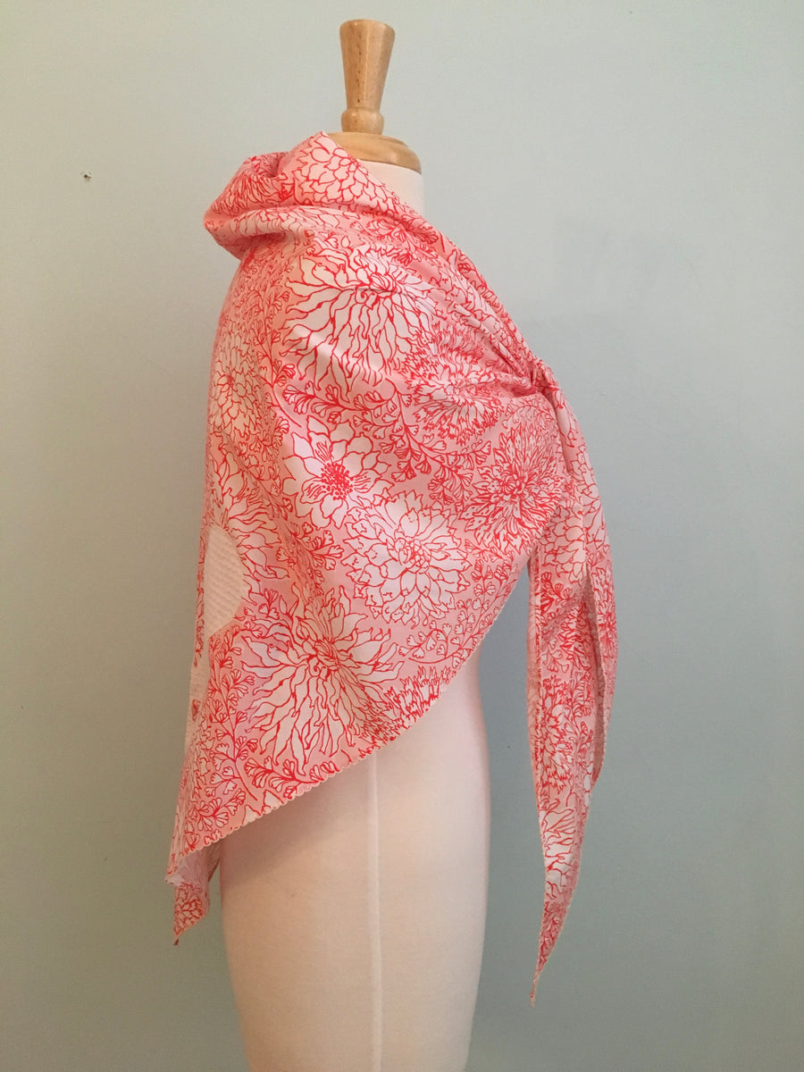 1970s Large Lilly Pulitzer Butterfly Shawl Scarf