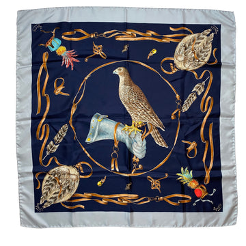 Gucci 1970s Silk Falconry Scarf
