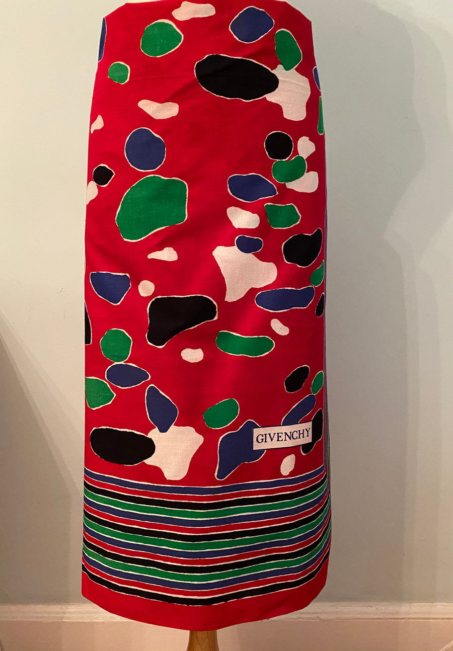 Huge 1980s Givenchy Cotton Scarf Wrap