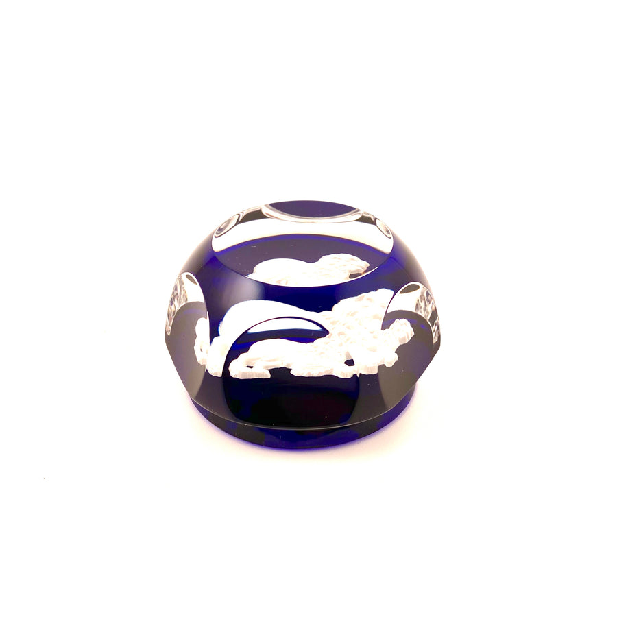 Vintage Baccarat Leo Zodiac Sign Paperweight