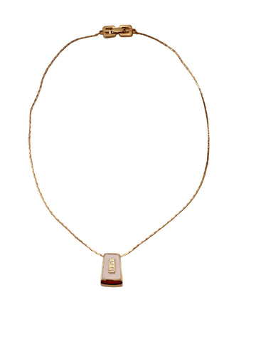 1980s Givenchy Logo Pendant Necklace