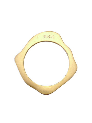 1960s Pierre Cardin Goldtone Amorphous Shaped Bangle