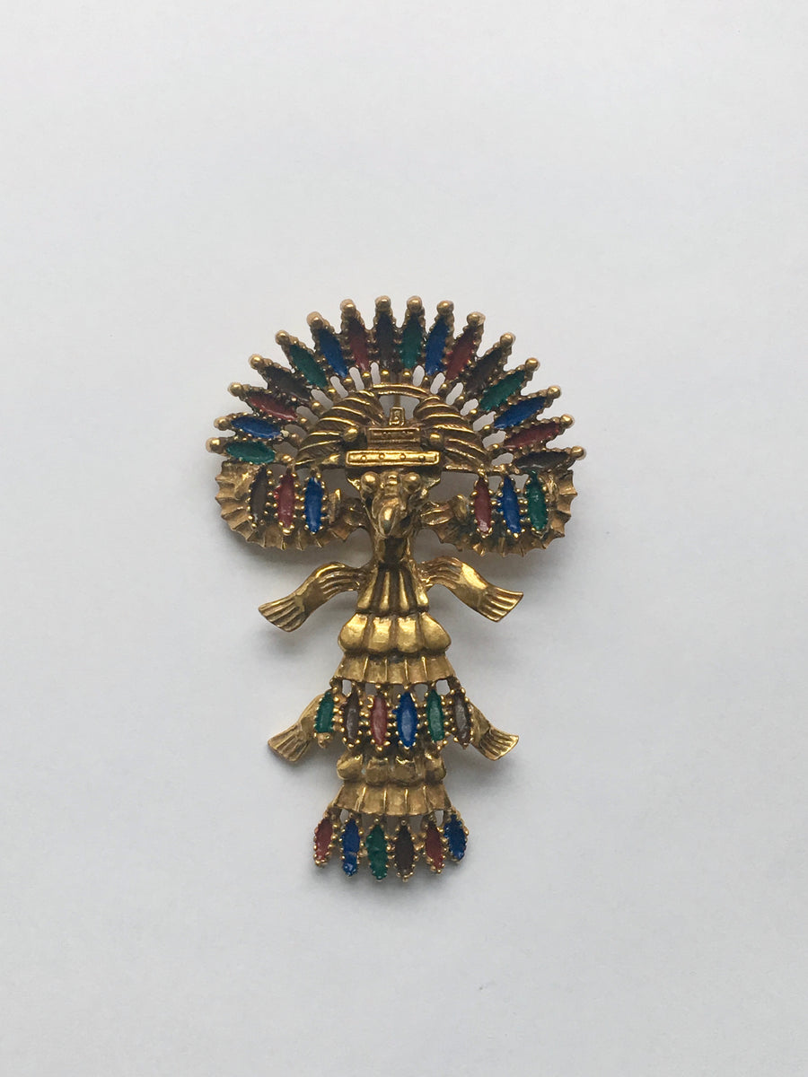 1973 Figural Castlecliff Brooch Designed by Larry VRBA