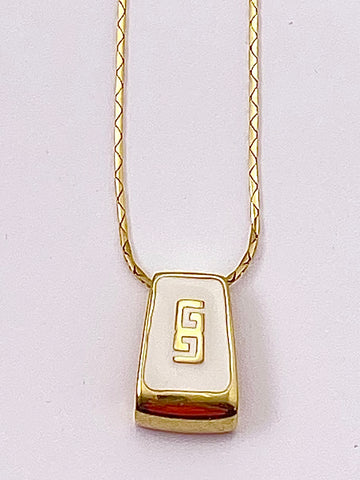 Givenchy Logo Pendant Necklace 1980s