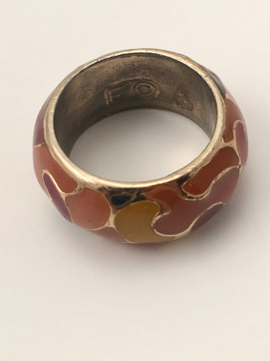 1960s Enameled Eisenberg Ring
