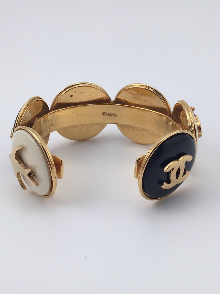 1970s Chanel Bracelet with Symbolic Medallions in Chanel Box