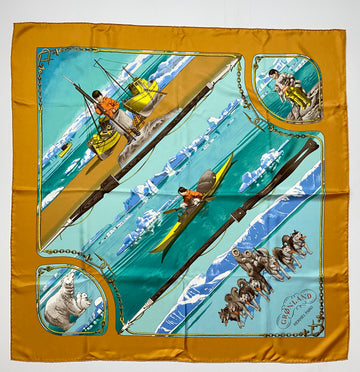 Hermes Gronland Eskimo Scarf by Philipe Ledoux in Box