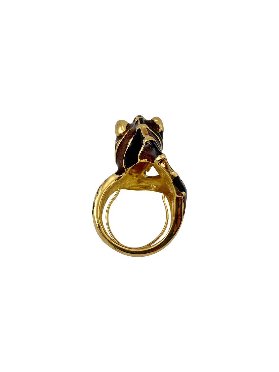 Kenneth Jay Lane Zebra Ring