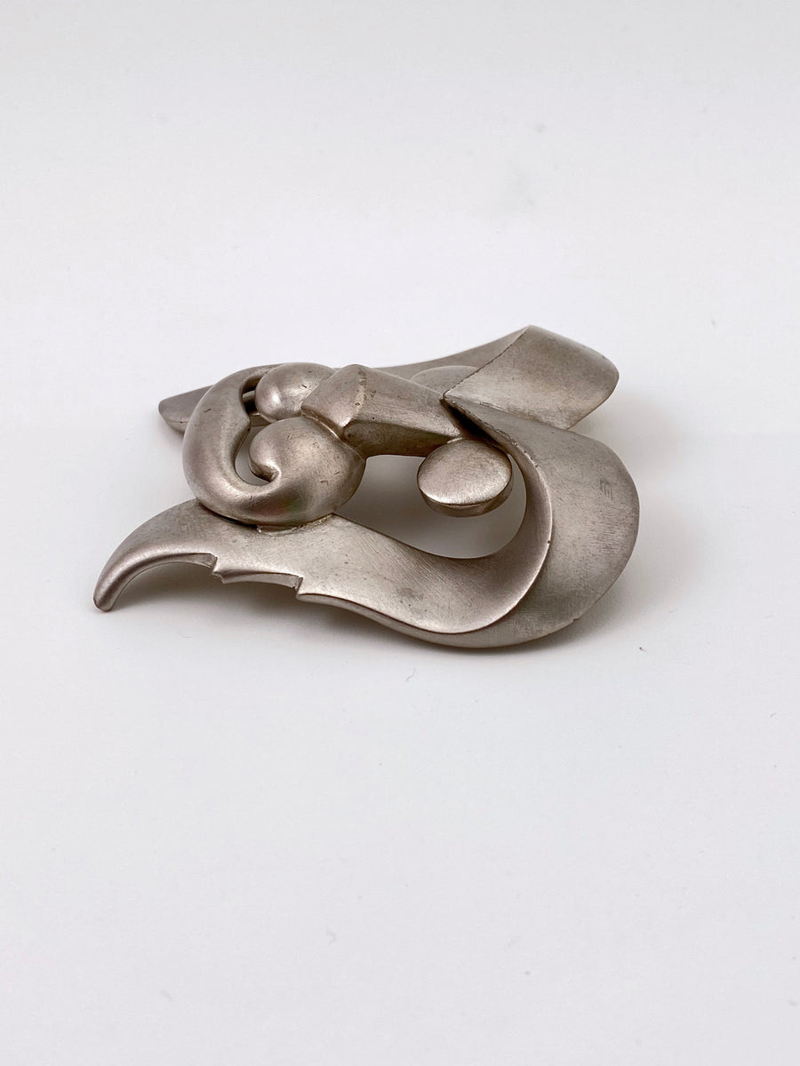 Pierre Cardin Modernist Large Lion Brooch 1960s
