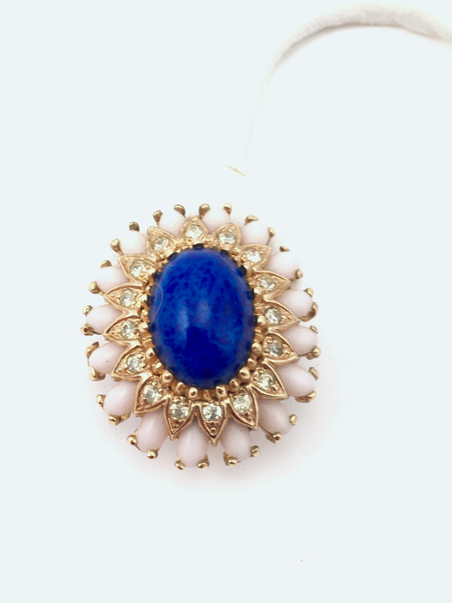 1960s Panetta Faux Lapis Earrings