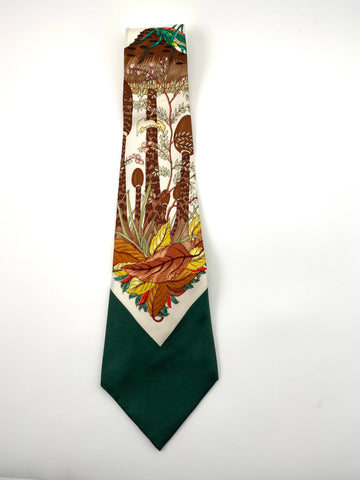 1970s Gucci Green Mushroom Tie with Original Tags