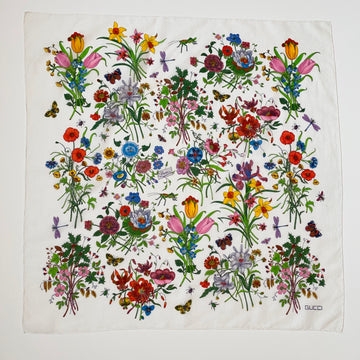 Vintage Gucci Cotton Flora Pattern Scarf