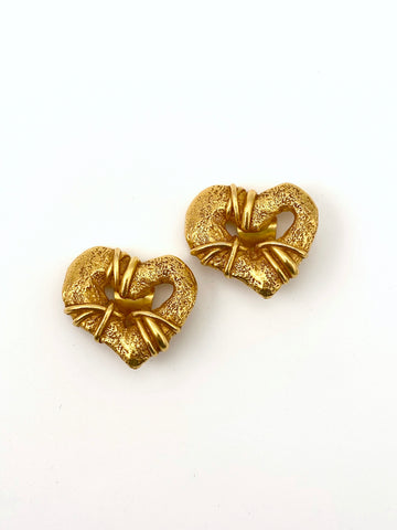 Christian LaCroix Heart Earrings 1990s