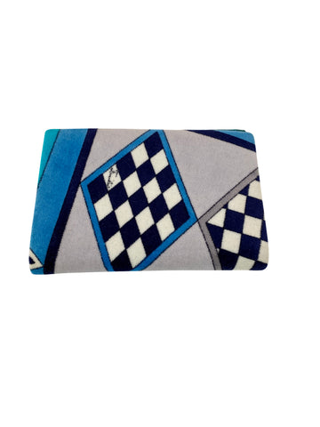 1970s Emilio Pucci Geometric Patterned Velvet Wallet